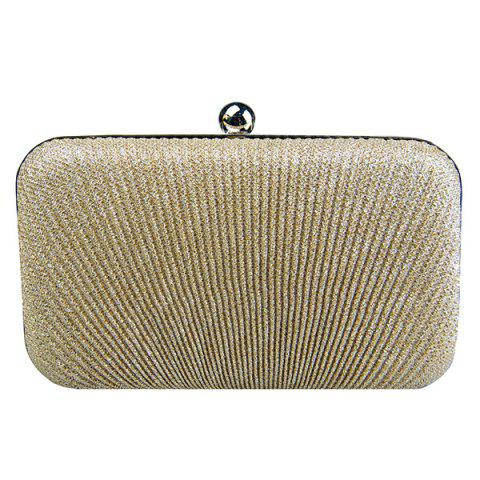 Outfits Stylish Solid Color and Metallic Ball Design Evening Bag For Women GOLDEN