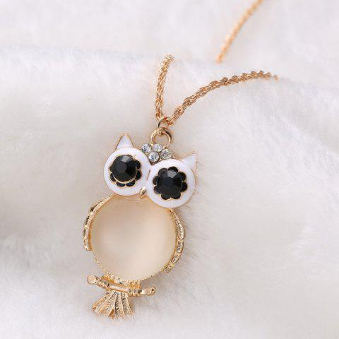 Outfits Graceful Faux Opal Owl Sweater Chain For Women - GOLDEN  Mobile