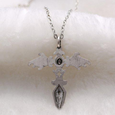 Affordable Vintage Cross Wings Sweater Chain For Men - SILVER  Mobile