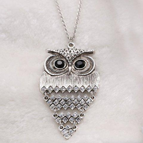Affordable Vintage Alloy Owl Sweater Chain For Women - SILVER  Mobile