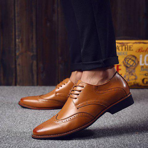 Best Stylish Tie Up and Wingtip Design Formal Shoes For Men - 41 BROWN Mobile