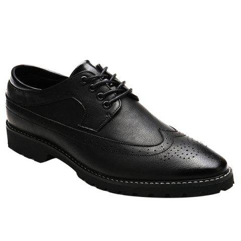 Fancy Stylish PU Leather and Tie Up Design Formal Shoes For Men