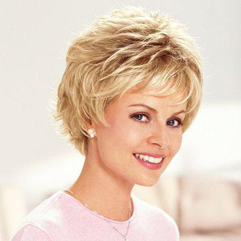 Shops Vogue Light Brown Synthetic Fluffy Straight Short Pixie Cut Wig For Women
