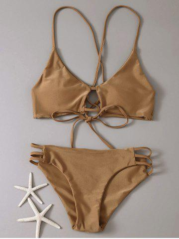 Sale Lace-Up Cami Bikini Set