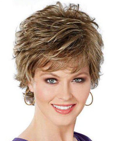 Shops Shaggy Short Pixie Cut Natural Wave Fashion Mixed Color Synthetic Wig For Women