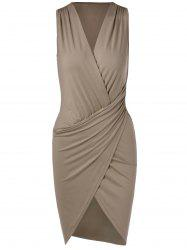 Draped Bodycon Tank Dress -