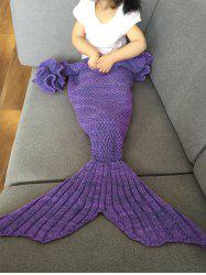 Falbala Shape Mermaid Tail Design Knitted Baby Blankets