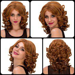 Medium Curly Colormix Side Parting Synthetic Hair Wig