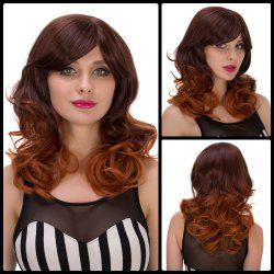 Medium Curly Side Bang Women's Synthetic Hair Wig