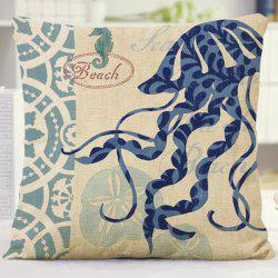 High Quality Flora Jellyfish Letter Design Home Decor Pillow Case
