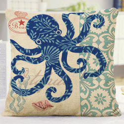 Creative Home Decor Flora Octopus Design Sofa Pillow Case -