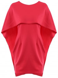 Sexy Round Neck Half Sleeve Pure Color Women's Dress -