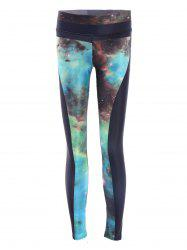 Galaxy High Stretchy Running Leggings - COLORMIX