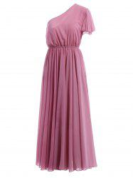 Sweet One-Shoulder Short Sleeve Maxi Dress For Women -