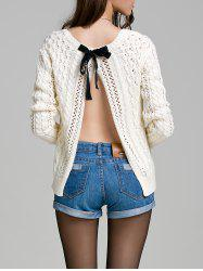 Long Sleeve Hollow Out Solid Color Sweater