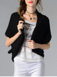 Trendy Collarless Button Design Solid Color Women's Cardigan -