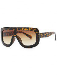 Leopard Oversized Alpina Shield Sunglasses
