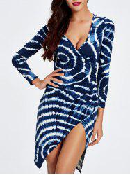 Plunge Printed Long Sleeve Night Out Dress