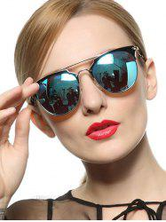 Stylish Ombre Cat Eye Mirrored Sunglasses