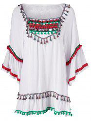 Colorful Appliques National Wind Dress -