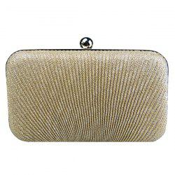 Stylish Solid Color and Metallic Ball Design Evening Bag For Women - GOLDEN