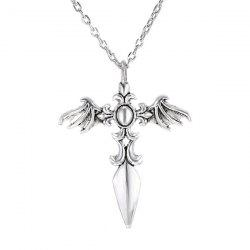 Vintage Cross Wings Sweater Chain For Men