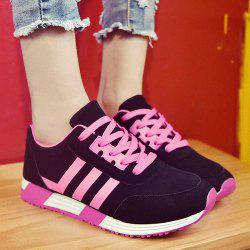 Leisure Lace-Up and Striped Design Athletic Shoes For Women