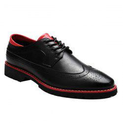 Stylish PU Leather and Tie Up Design Formal Shoes For Men