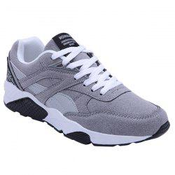 Fashionable Color Splicing and Suede Design Athletic Shoes For Men -