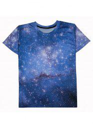 Starry Sky 3D Print Round Neck Short Sleeve T-Shirt For Men