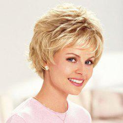 Vogue Light Brown Synthetic Fluffy Straight Short Pixie Cut Wig For Women -