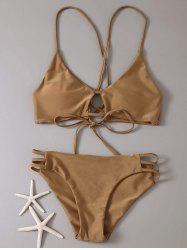 Lace-Up Cami Bikini Set