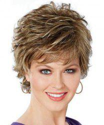 Shaggy Short Pixie Cut Natural Wave Fashion Mixed Color Synthetic Wig For Women -