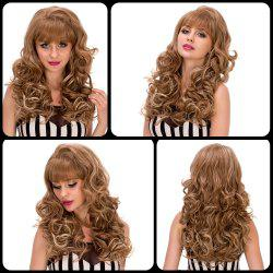 Long Fashion Curly Full Bang Women's Synthetic Hair Wig