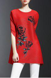 Rose Pattern Tunic Top