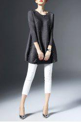 Beading Creases Tunic Top
