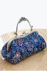 Floral Pattern Hasp Vintage Evening Bag