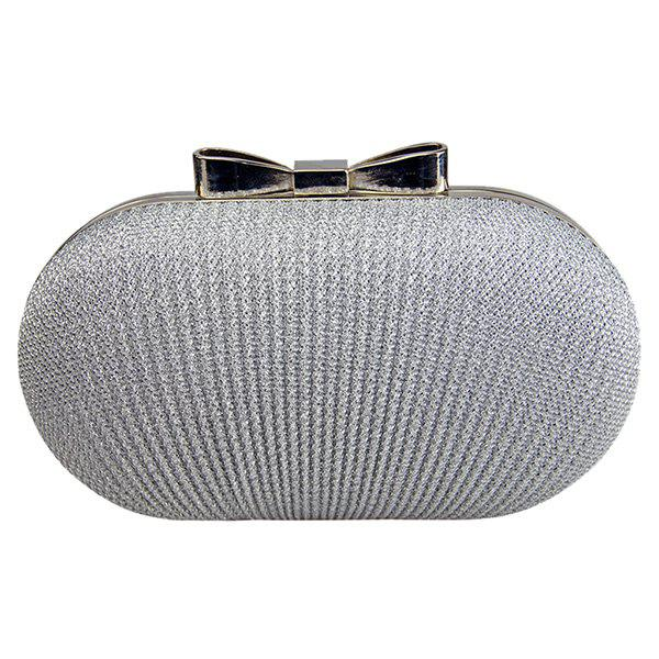 Sale Fashionable Bow and Wrinkle Design Evening Bag For Women