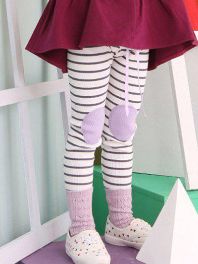 Trendy Stylish Elastic Waist Striped Patch Splice Leggings