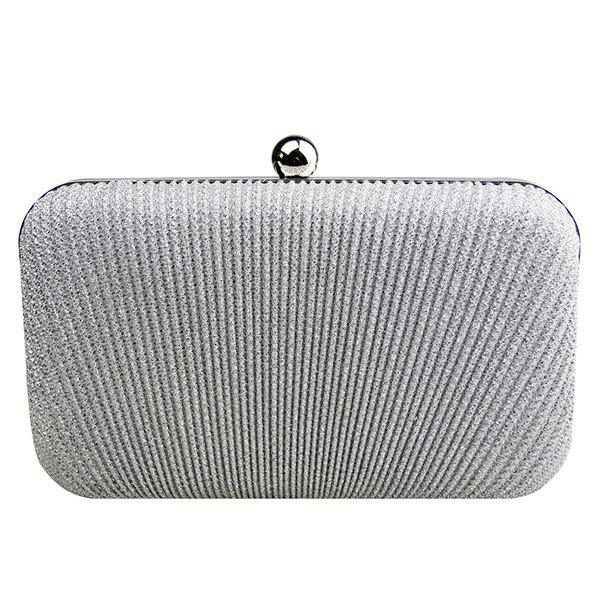 Discount Stylish Solid Color and Metallic Ball Design Evening Bag For Women