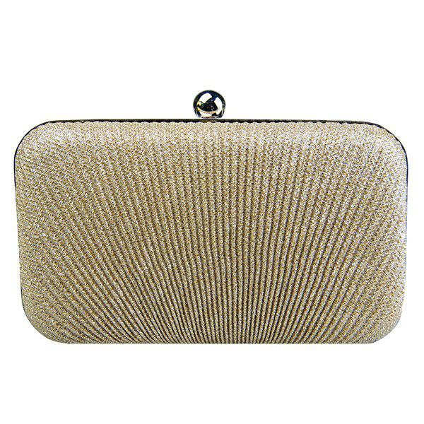 Outfits Stylish Solid Color and Metallic Ball Design Evening Bag For Women
