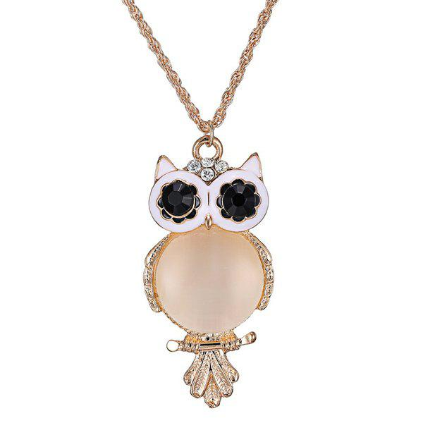 Graceful Faux Opal Owl Sweater Chain For WomenJEWELRY<br><br>Color: GOLDEN; Gender: For Women; Style: Noble and Elegant; Shape/Pattern: Animal; Weight: 0.041kg; Package Contents: 1 x Sweater Chain;