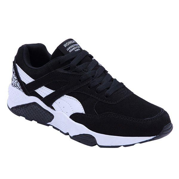 Affordable Fashionable Color Splicing and Suede Design Athletic Shoes For Men