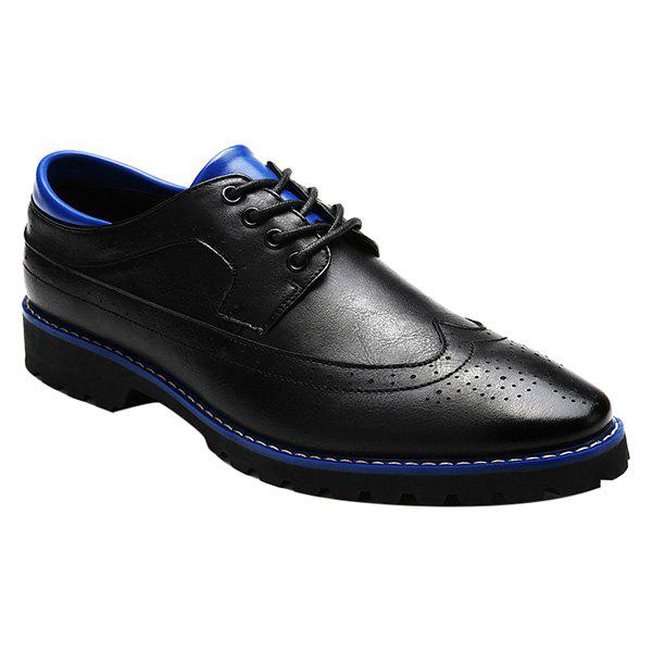 Chic Stylish PU Leather and Tie Up Design Formal Shoes For Men