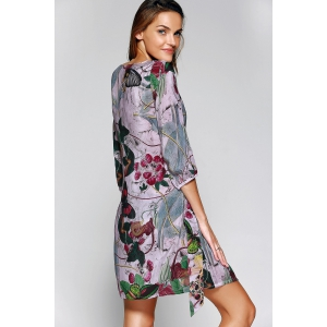 Butterfly Print Mini Dress -