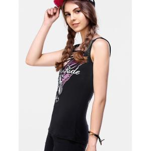 Women's Printed Hollow Out Tank Top -