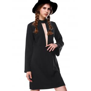 Flare Sleeve Cut Out Dress -