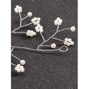 Graceful Faux Pearl Hairband - SILVER