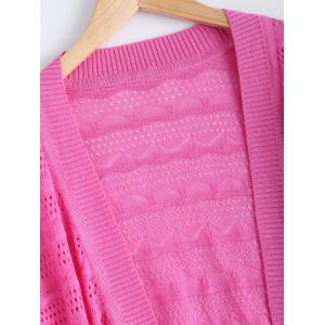 Simple Textured Hollow Out Knitted Cardigan For Women -