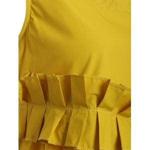 Sleeveless Frilly Ruched Asymmetric Dress -